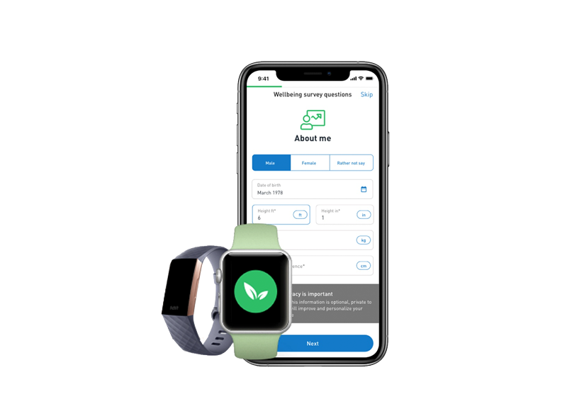 Sprout Real Time Health Risk Assessment on iphone